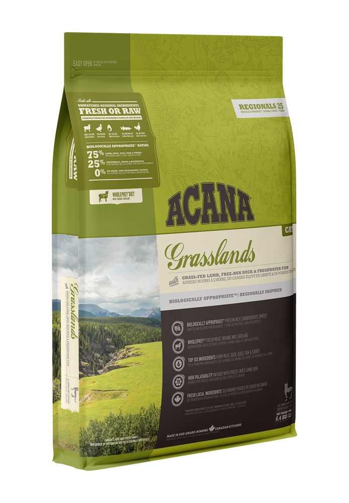 Acana Grasslands Dry Cat Food, 340-gram