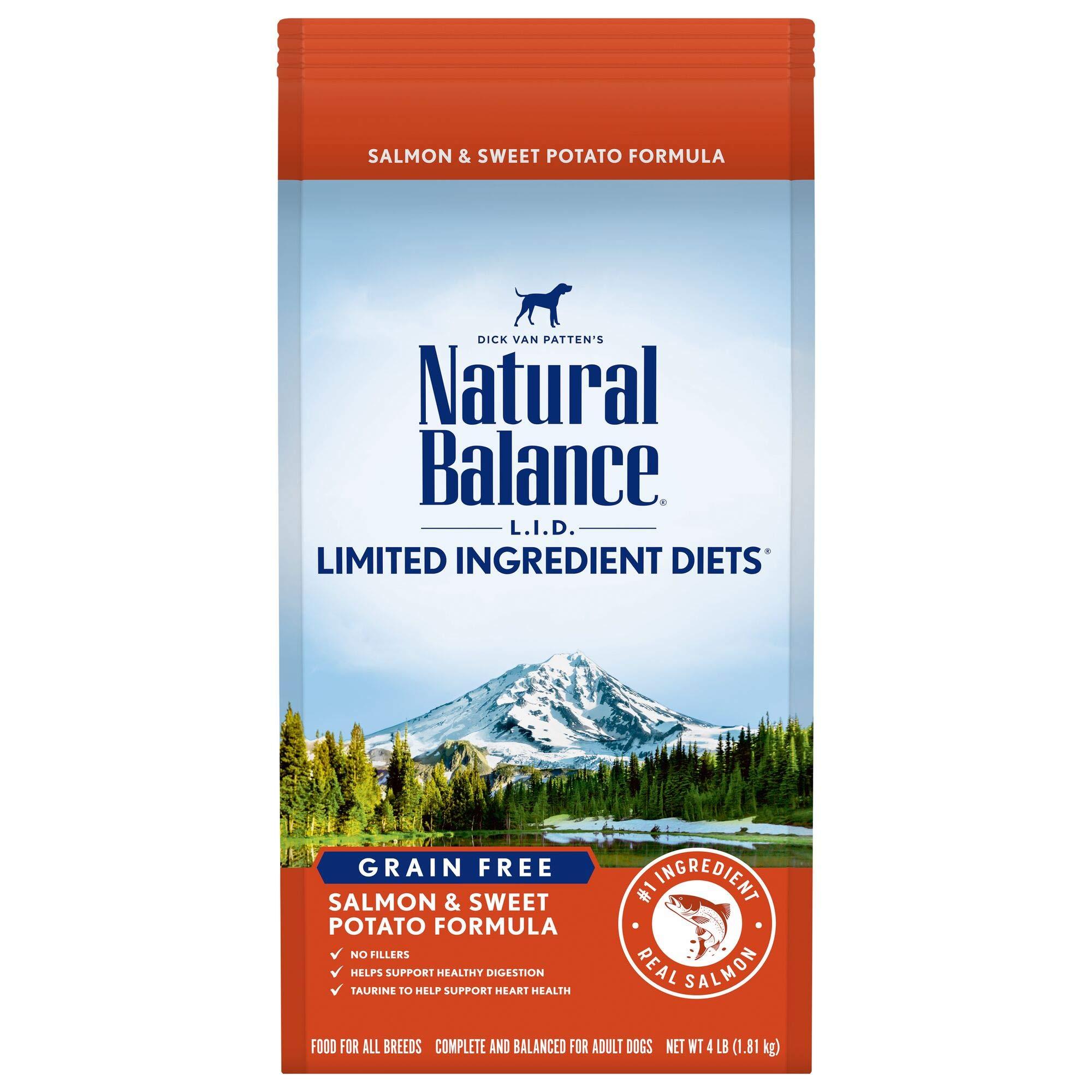 Natural Balance L.I.D. Limited Ingredient Diets Salmon & Sweet Potato Grain-Free Dry Dog Food, 4-lb bag