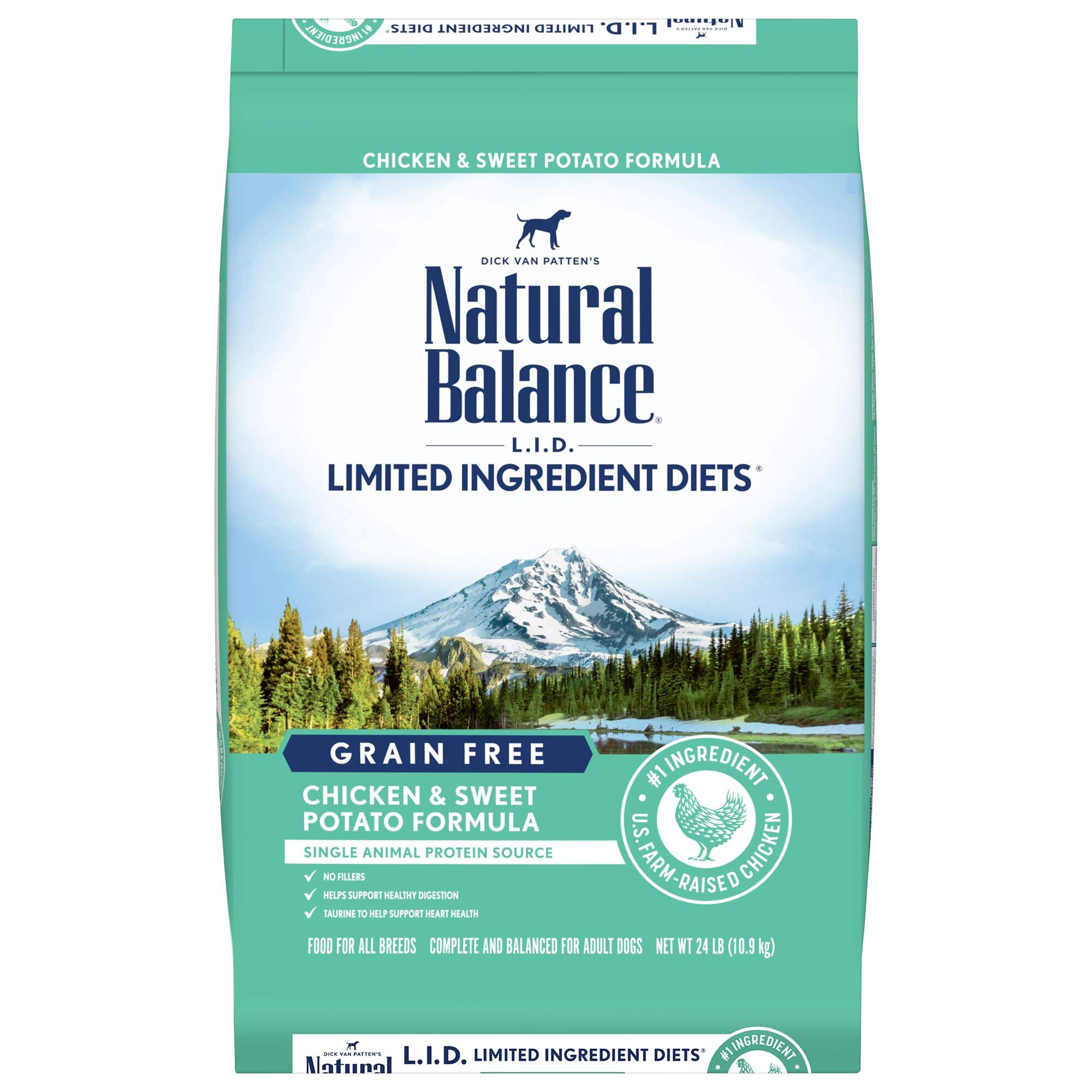 Natural Balance L.I.D. Limited Ingredient Diets Grain-Free Dry Dog Food, Chicken & Sweet Potato, 24-lb bag