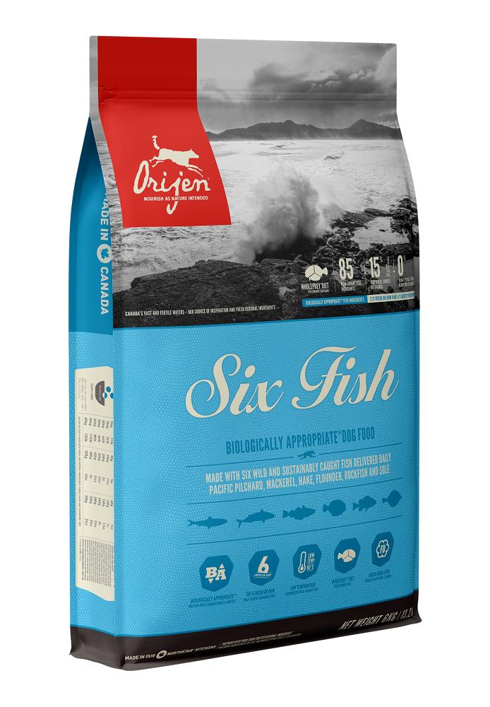 Orijen Six Fish Dry Dog Food, 6-kg