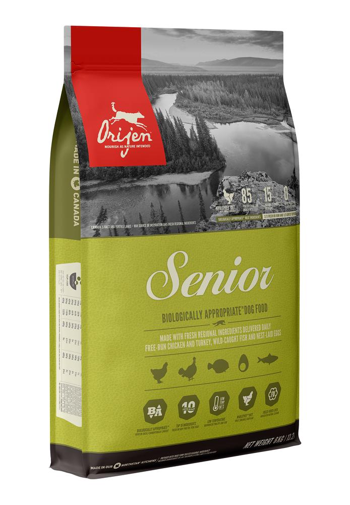 ORIJEN Senior Dry Dog Food, 6-kg