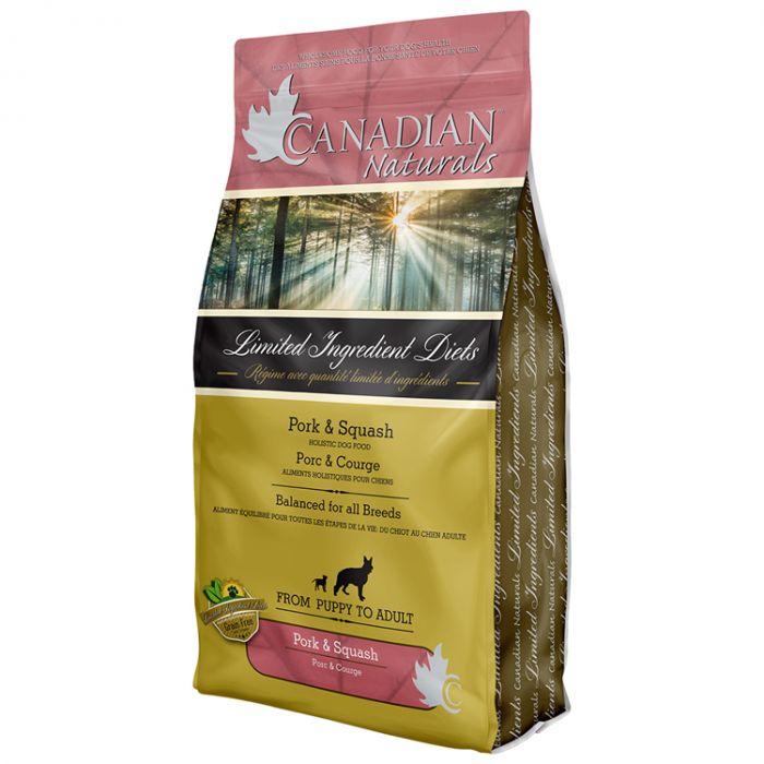 Canadian Naturals LID Pork & Butternut Squash Dry Dog Food, 25-lb