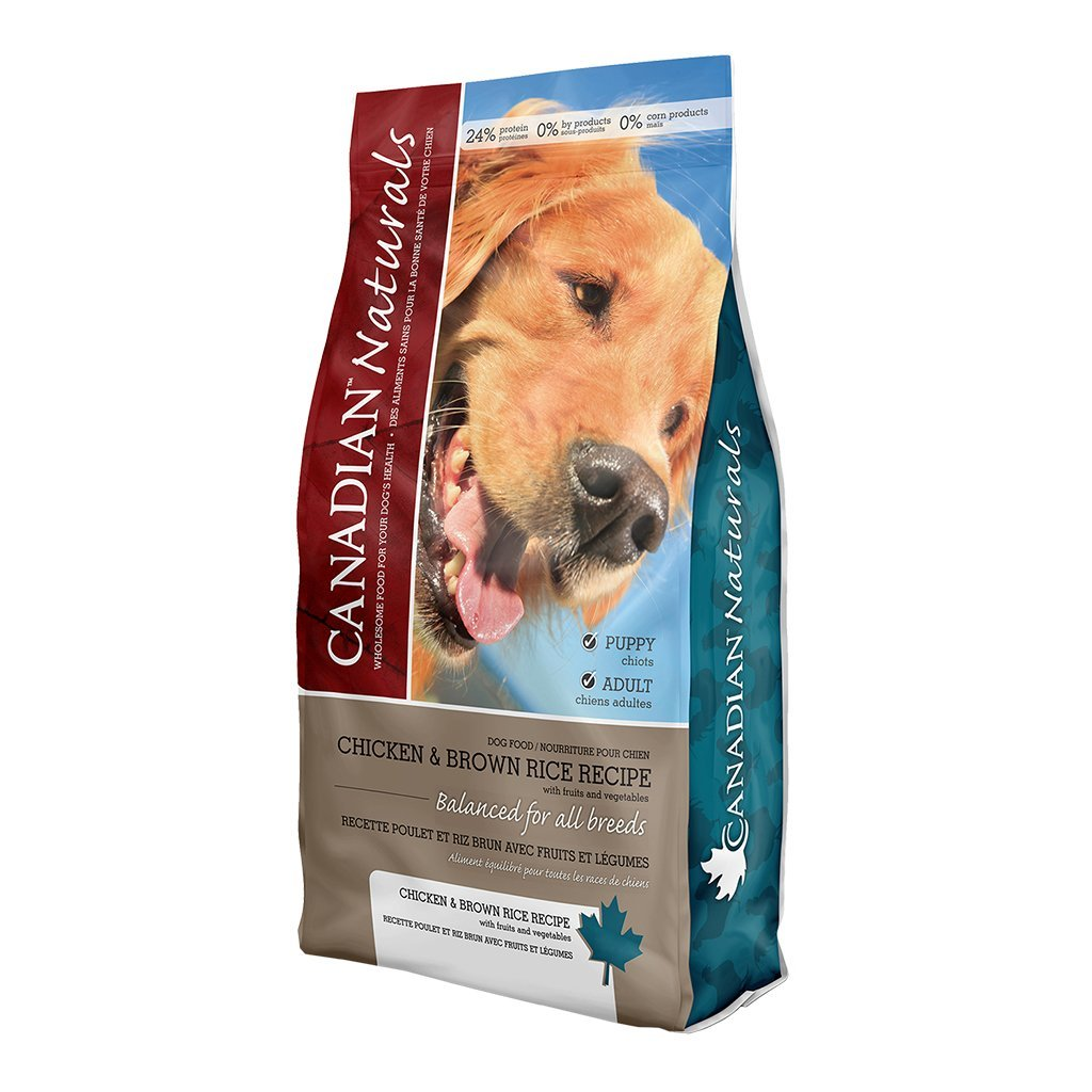 Canadian Naturals Chicken & Brown Rice Dry Dog Food, 30-lb