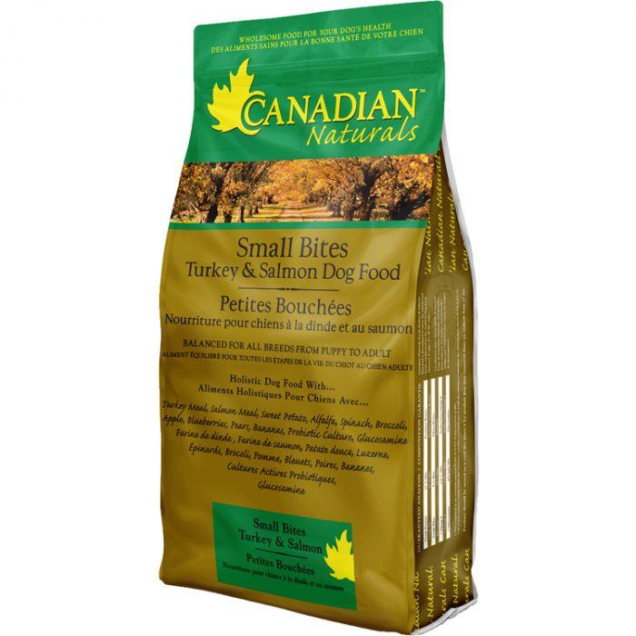 Canadian Naturals Original Turkey & Salmon Small Bites Dry Dog Food, 15-lb