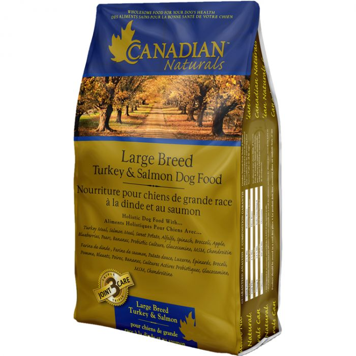 Canadian Naturals Original Turkey & Salmon Large Breed Dry Dog Food, 30-lb
