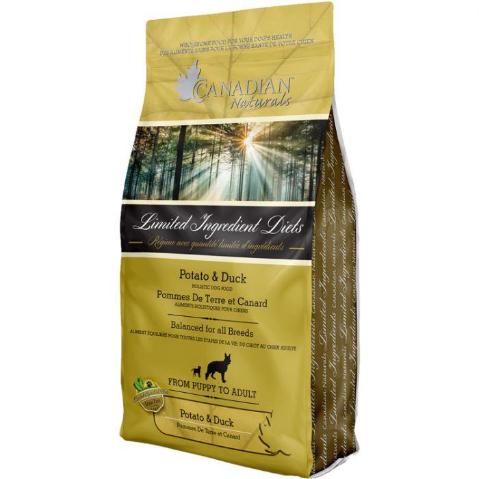 Canadian Naturals LID Potato & Duck Grain-Free Dry Dog Food, 25-lb