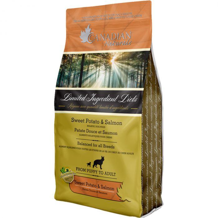 Canadian Naturals LID Sweet Potato & Salmon Grain-Free Dry Dog Food, 5-lb