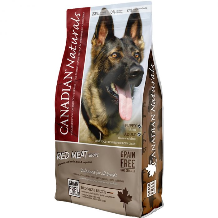 Canadian Naturals Red Meat Grain-Free Dry Dog Food, 25-lb
