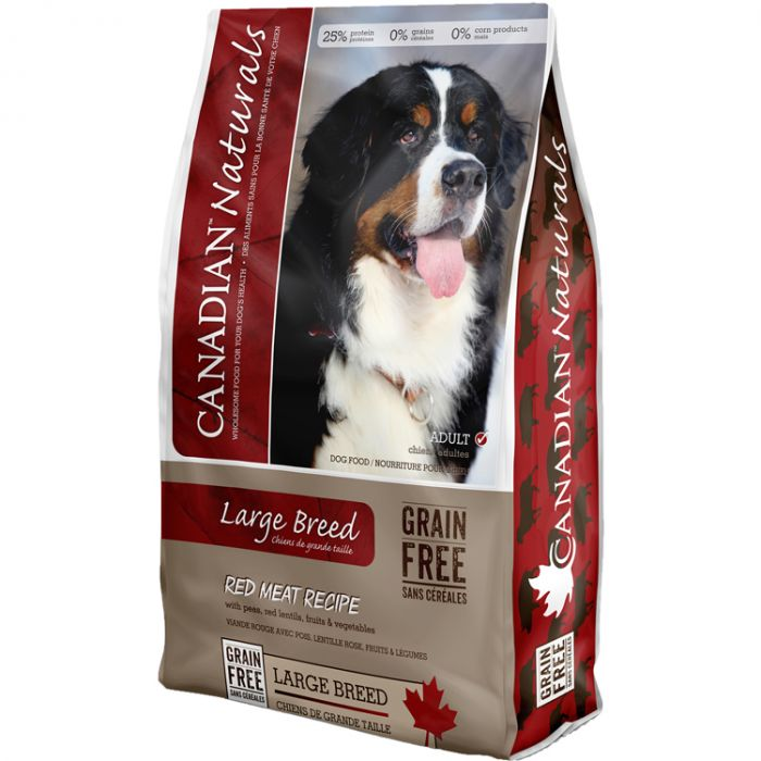 Canadian Naturals Red Meat Grain-Free Large Breed Dry Dog Food, 28-lb