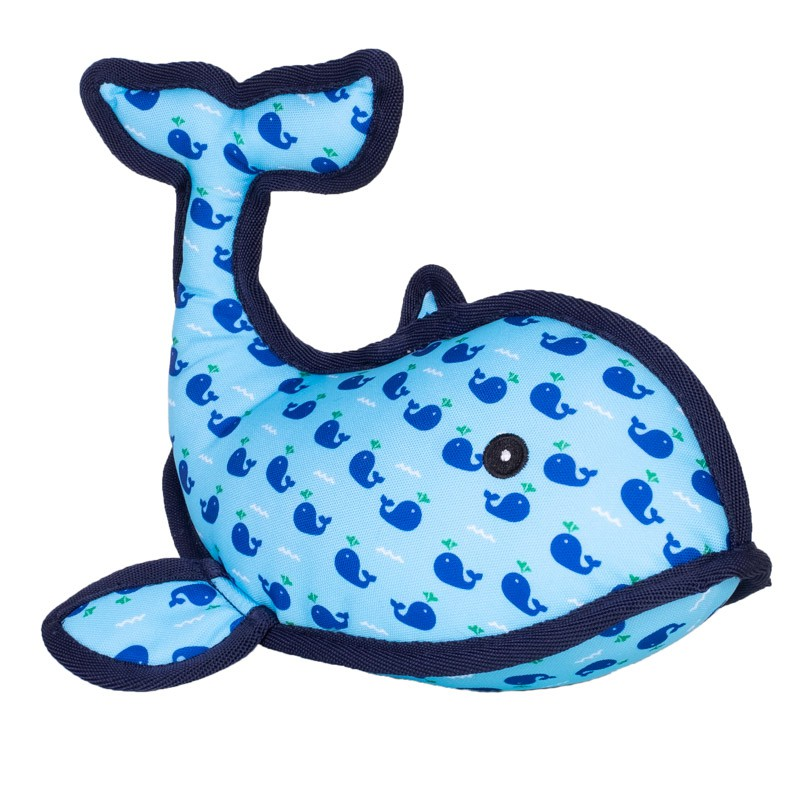 The Worthy Dog Squirt Whale Dog Toy, Small
