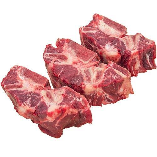 Iron Will Raw Meaty Beef Neck Bones Dog Treats, 1-lb