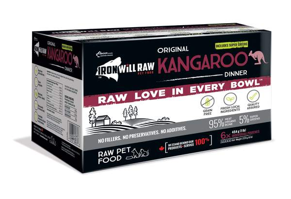 Iron Will Raw Original Kangaroo Frozen Cat & Dog Food, 6-lb