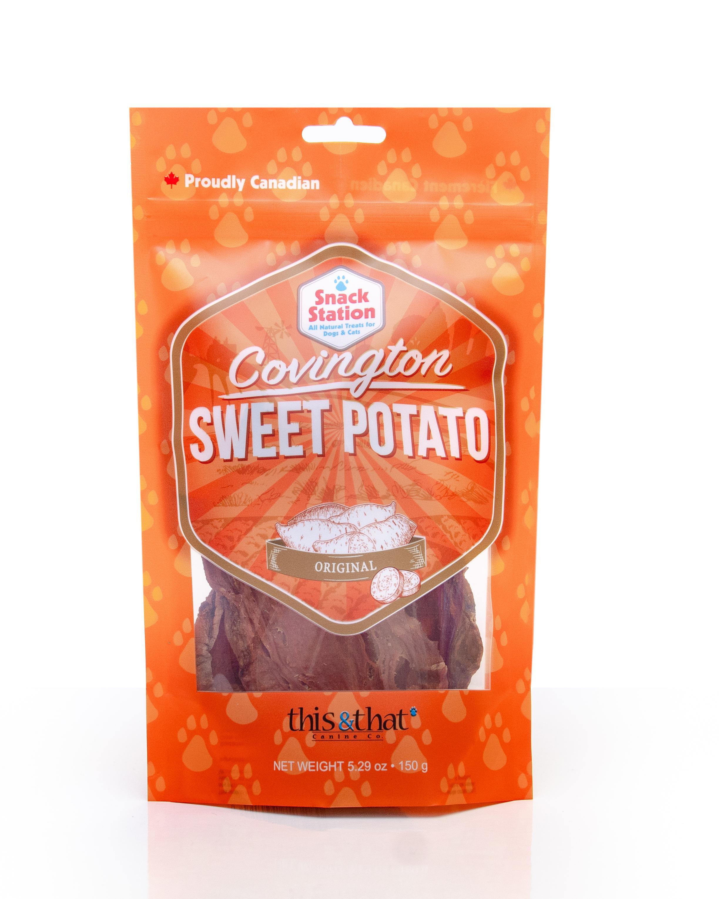 This & That Sweet Potato Original Dehydrated Dog Treats, 6.2-oz