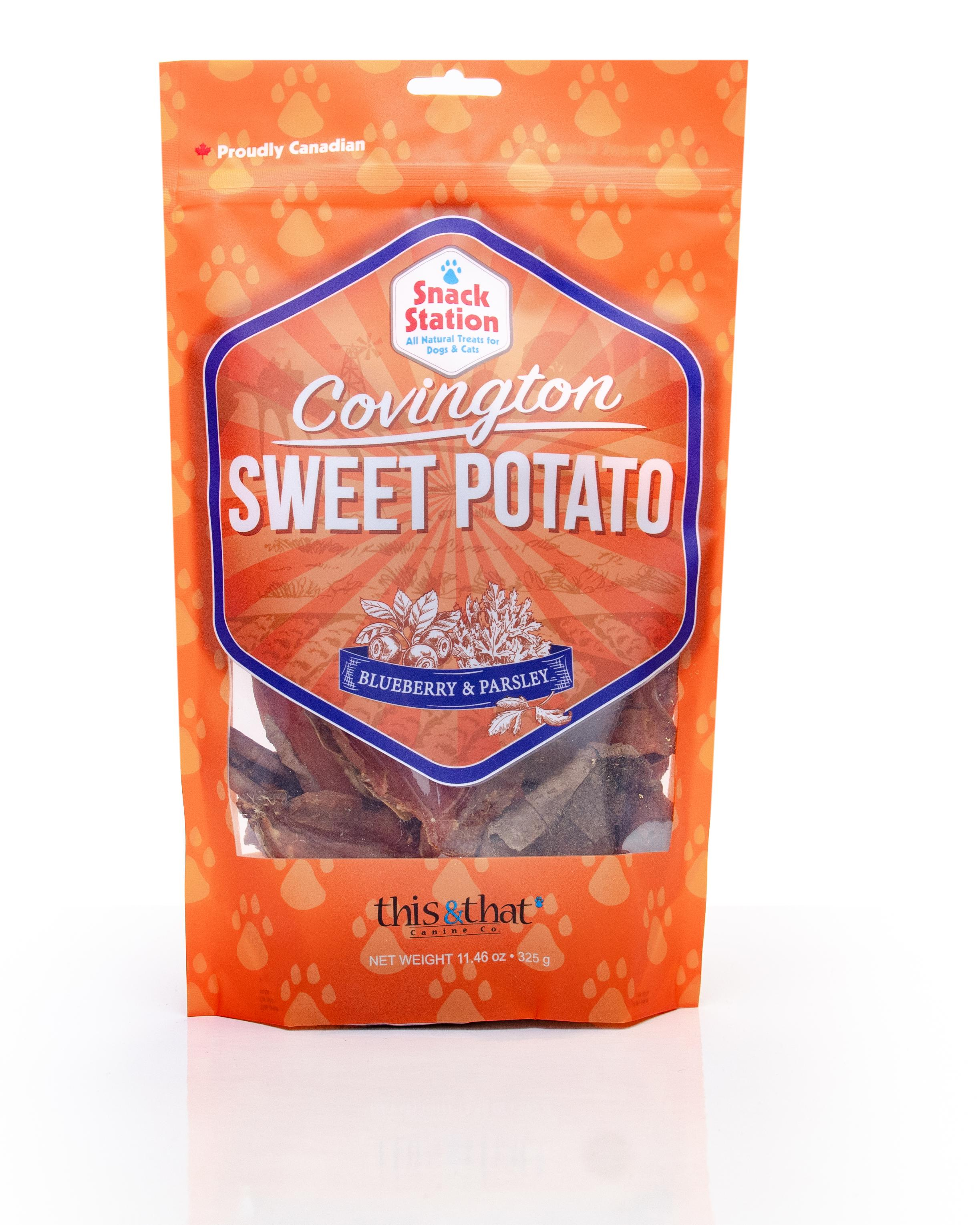 This & That Sweet Potato Blueberry & Parsley Dehydrated Dog Treats, 13.2-oz