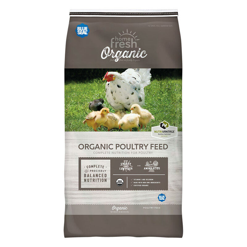 Blue Seal Home Fresh Organic Egg Layer Pellet Poultry Feed, 40-lb