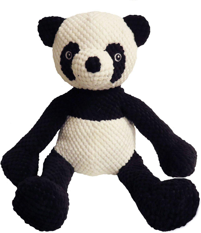 fabdog Floppy Plush Dog Toy, Panda, Large