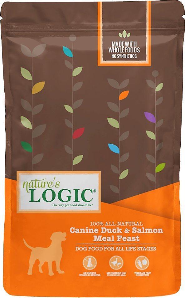 Nature's Logic Canine Duck & Salmon Meal Feast Dry Dog Food, 13-lb bag