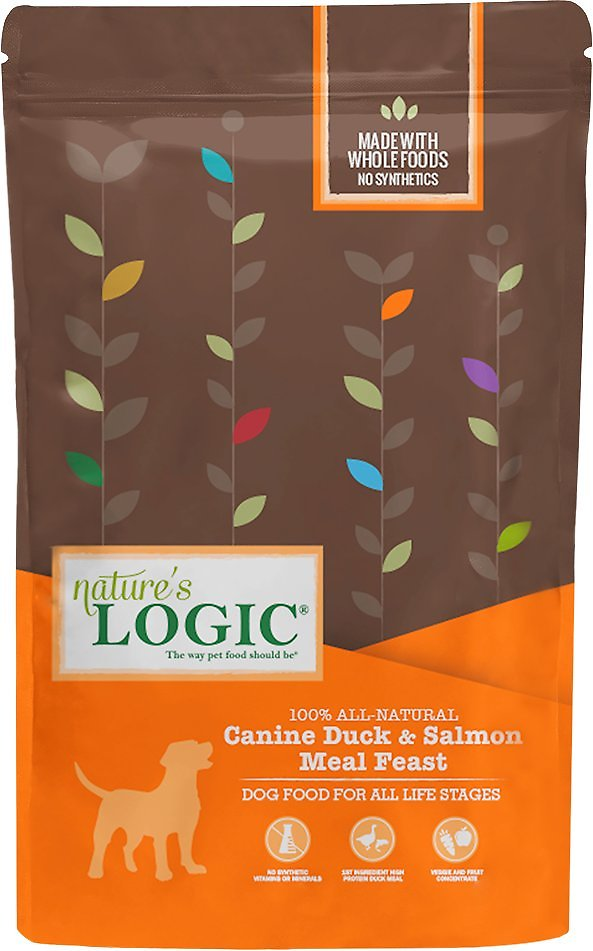 Nature's Logic Canine Duck & Salmon Meal Feast Dry Dog Food, 25-lb bag