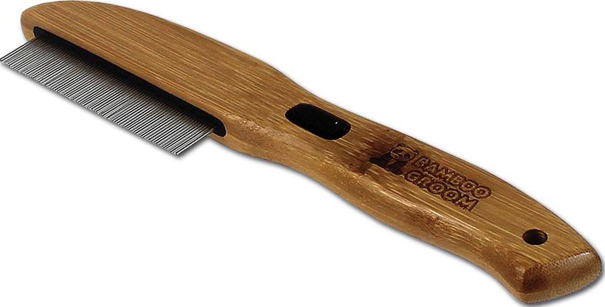 Bamboo Groom 77 Rotating Pins Flea Pet Comb
