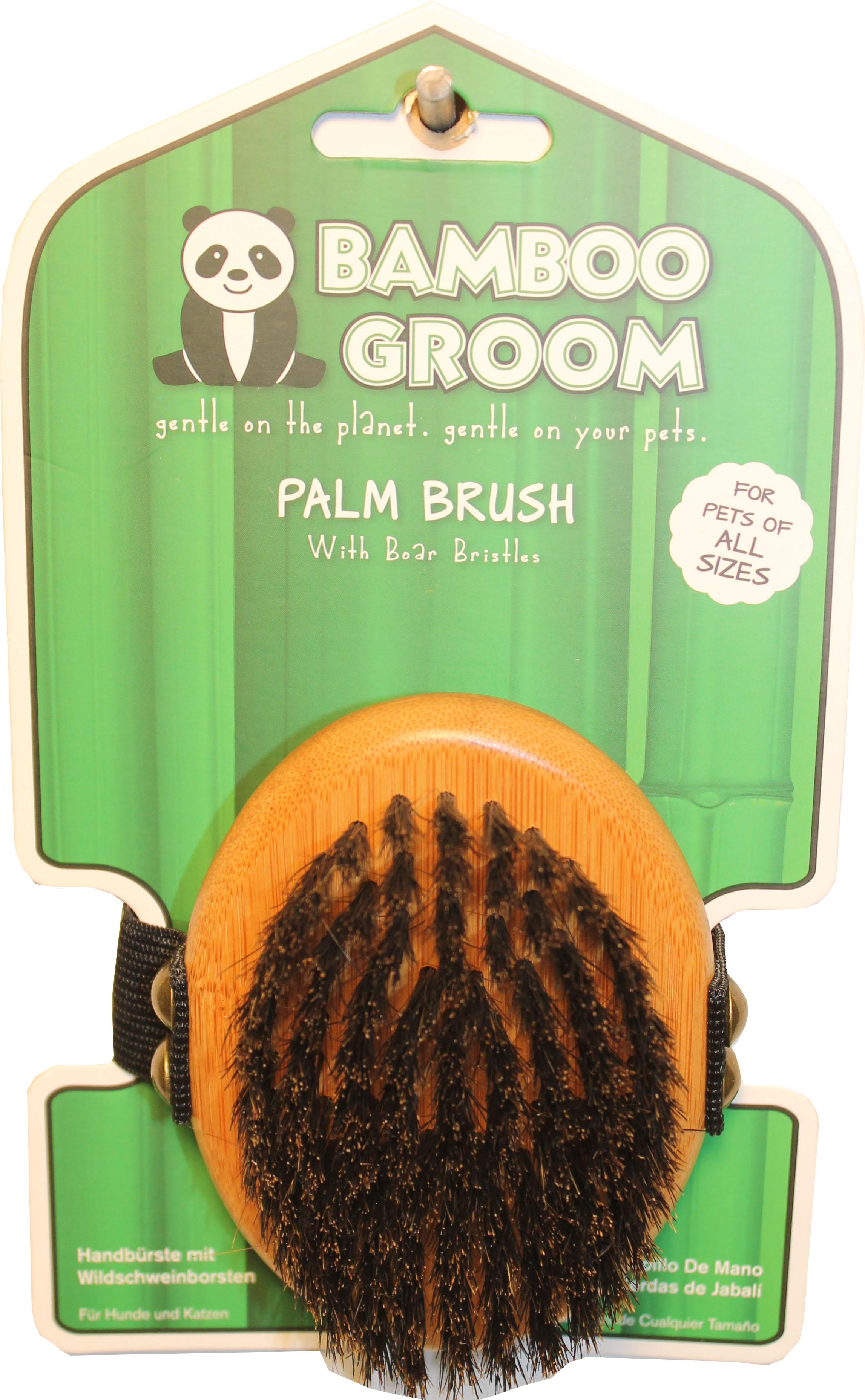 Bamboo Groom Palm Pet Brush