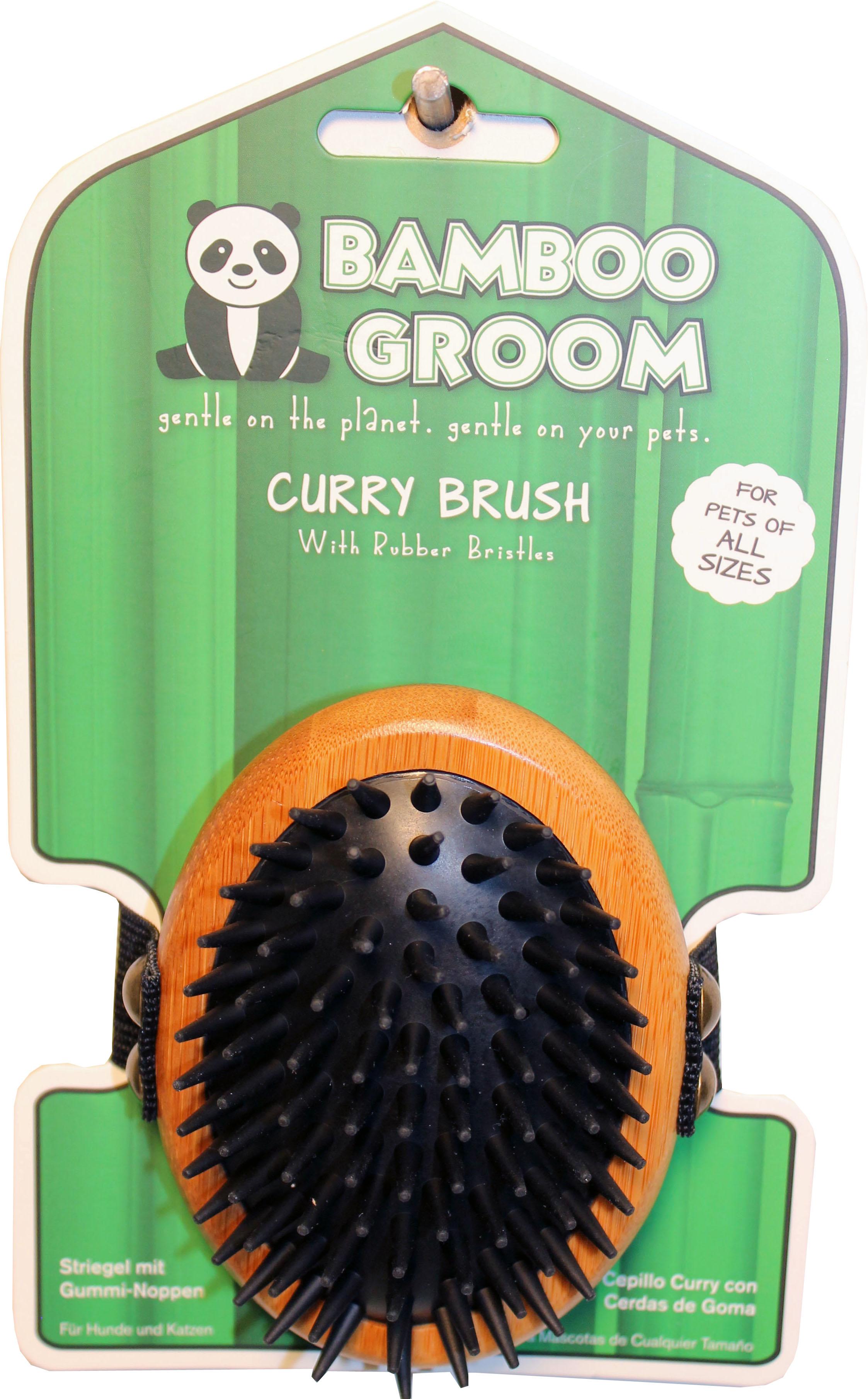 Bamboo Groom Curry Pet Brush