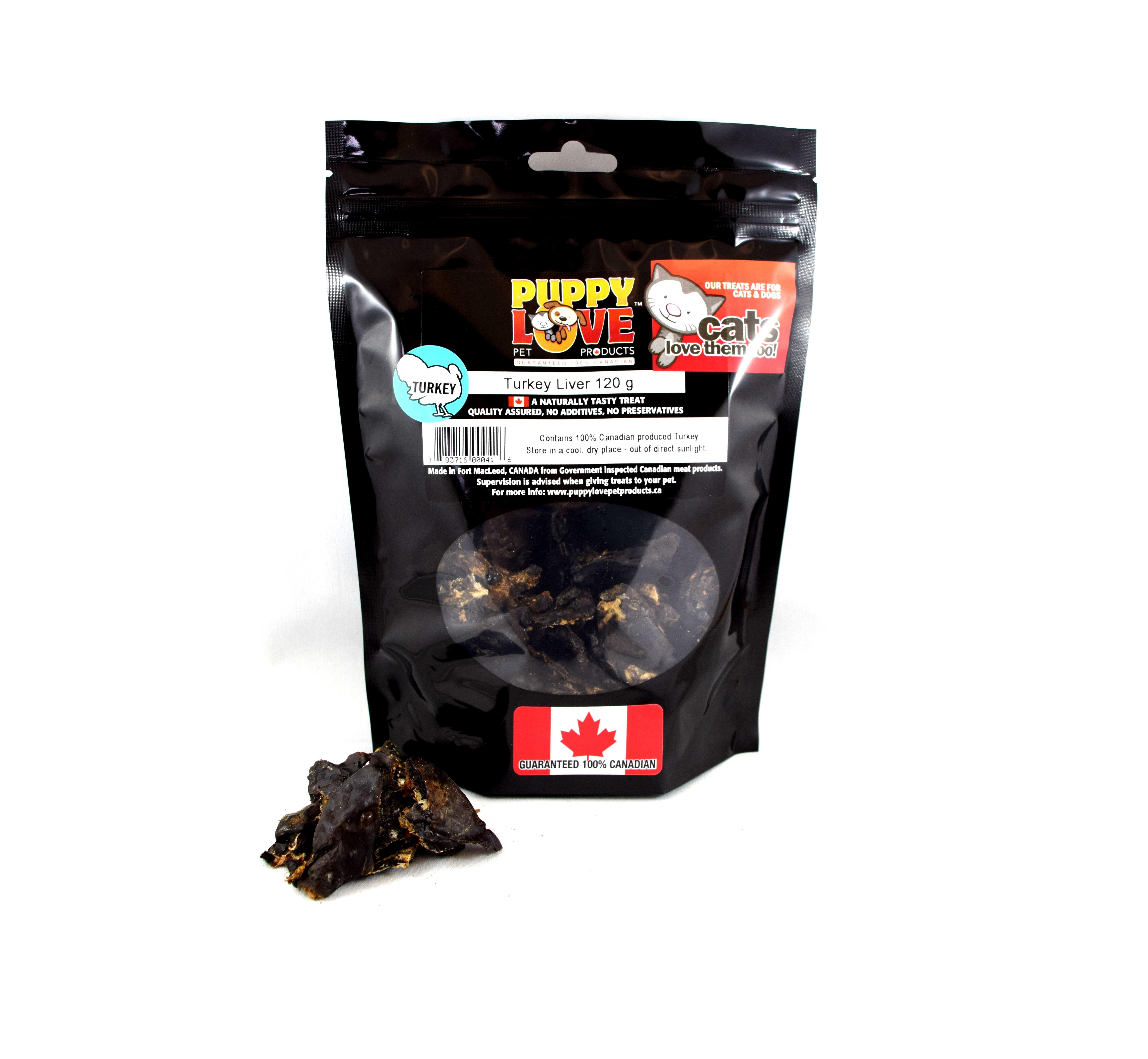 Puppy Love Turkey Liver Freeze-Dried Dog Treats, 120-gram