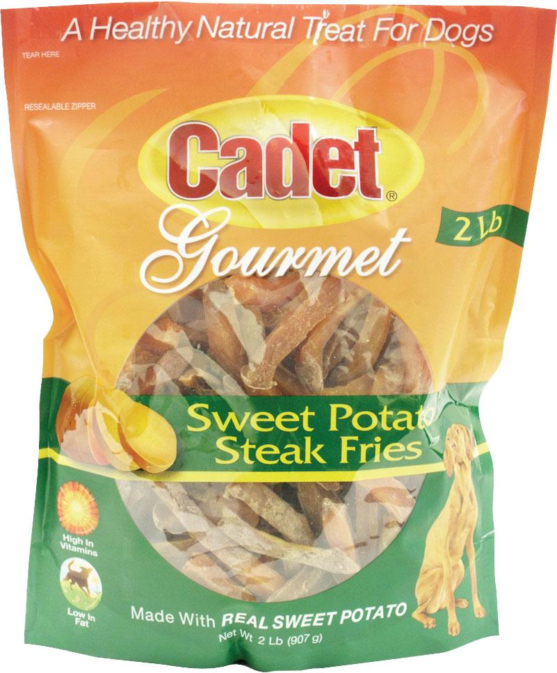 IMS Trading Cadet Gourmet Sweet Potato Steak Fries Dog Treats, 2-lb