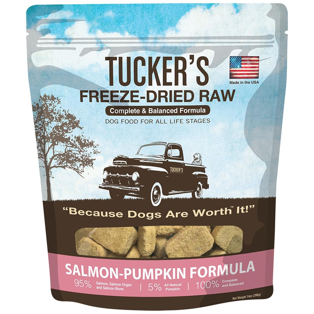 Tucker's Salmon-Pumpkin Formula Freeze-Dried Raw Dog Food, 12-oz