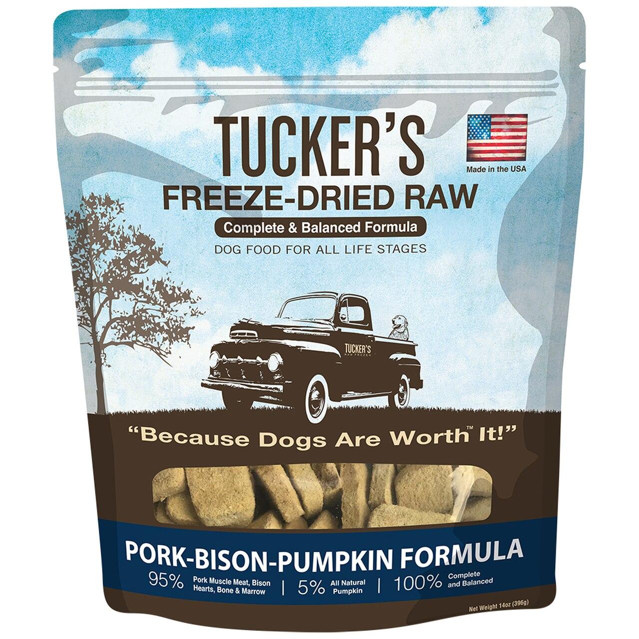 Tucker's Pork-Bison-Pumpkin Formula Freeze-Dried Raw Dog Food, 14-oz