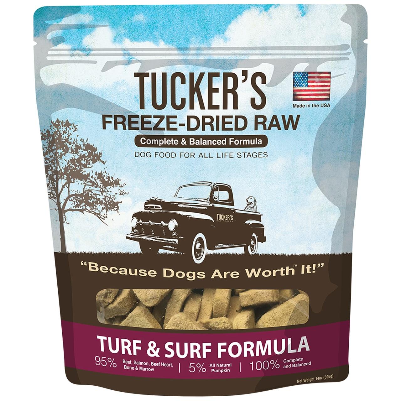 Tucker's Turf & Surf Formula Freeze-Dried Raw Dog Food, 14-oz