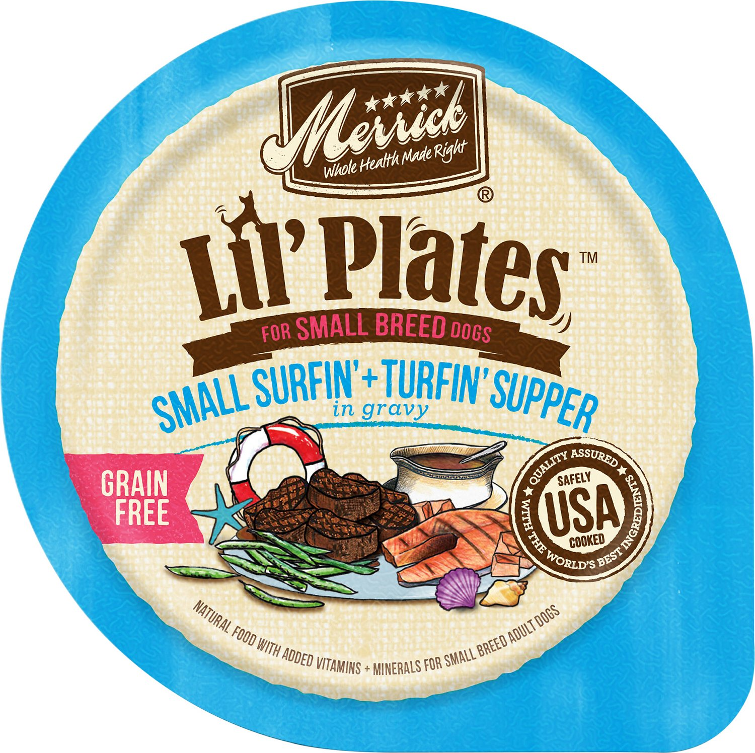 Merrick Lil' Plates Small Surfin' & Turfin' Supper in Gravy Grain-Free Dog Food Trays Image