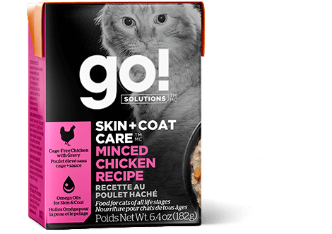 Go! Solutions Skin & Coat Care Minced Chicken Wet Cat Food, 6.4-oz, case of 24