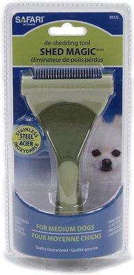 Safari Shed Magic De-Shedding Tool for Dogs, Medium