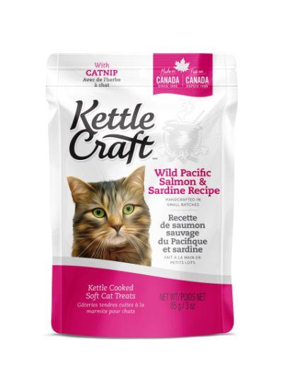 Kettle Craft Wild Pacific Salmon & Sardine Cat Treats, 85-gram