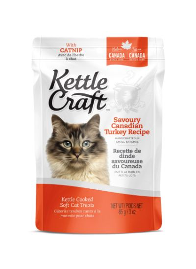 Kettle Craft Savoury Canadian Turkey Cat Treats, 85-gram
