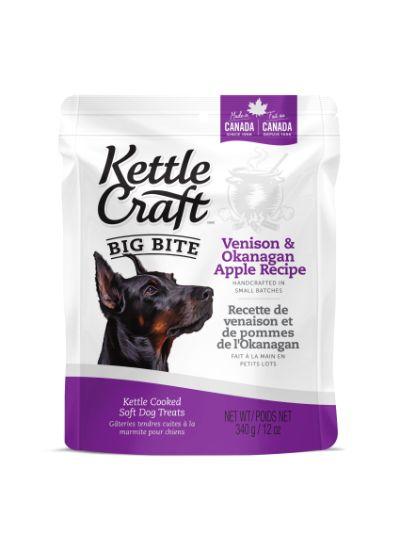 Kettle Craft Venison & Okanagan Apple Dog Treats, Big, 340-gram