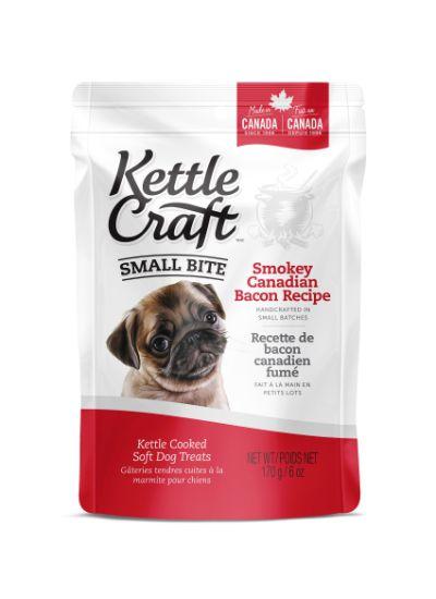 Kettle Craft Smokey Canadian Bacon Dog Treats, Small, 170-gram