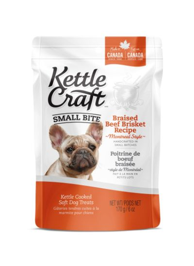 Kettle Craft Braised Beef Brisket Montreal Style Dog Treats, Small, 170-gram