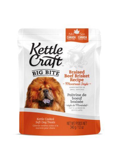 Kettle Craft Braised Beef Brisket Montreal Style Dog Treats, Big, 340-gram