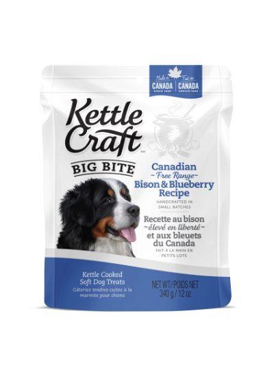 Kettle Craft Bison & Blueberry Dog Treats, Big, 340-gram