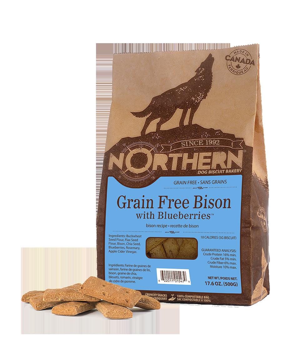 Northern Biscuit Bison with Blueberries Dog Treats, 500-gram