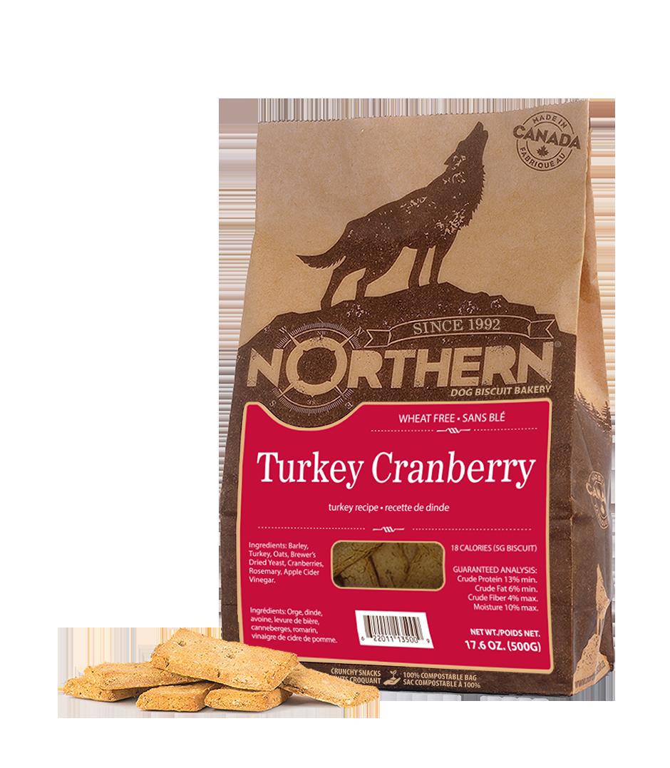 Northern Biscuit Turkey Cranberry Dog Treats, 500-gram