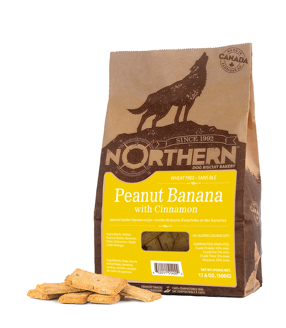 Northern Biscuit Peanut Banana with Cinnamon Dog Treats, 500-gram