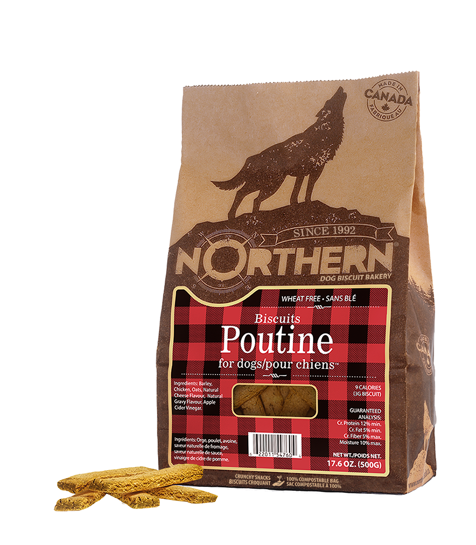 Northern Biscuit Poutine Dog Treats, 500-gram