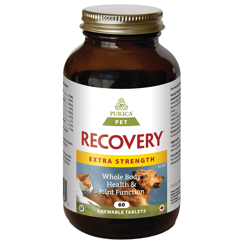 Purica Recovery Extra Strength Chewable Tablets Dog & Cat Supplement, 60-count