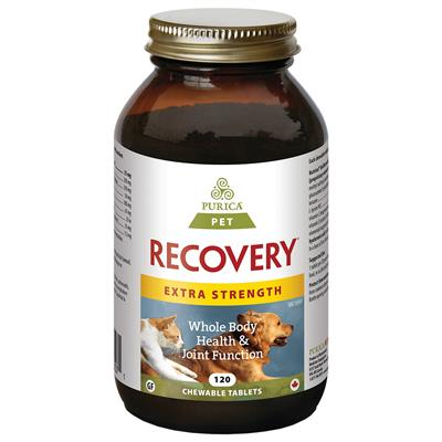Purica Recovery Extra Strength Chewable Tablets Dog & Cat Supplement, 120-count