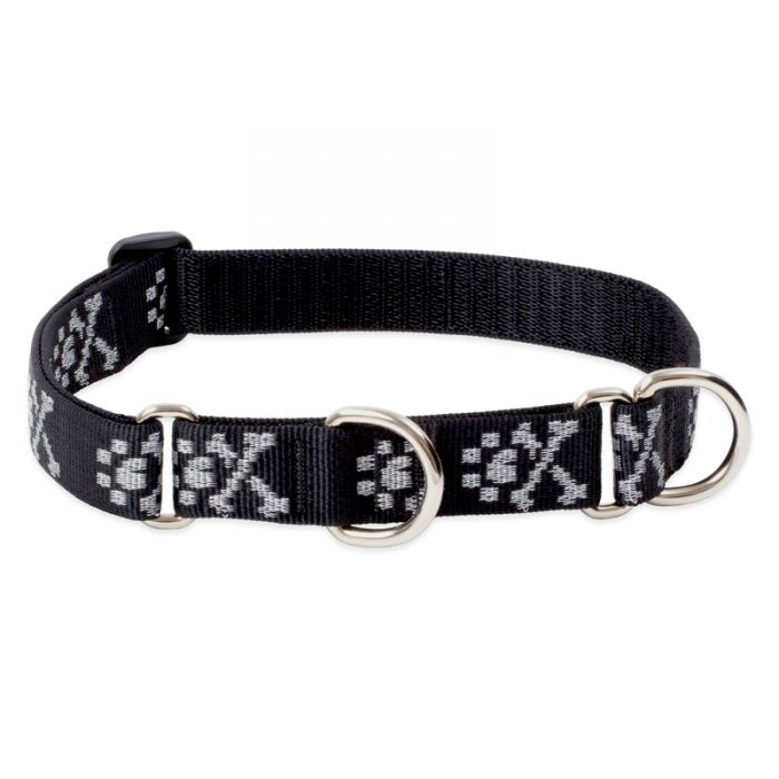 Lupine Pet Original Designs Martingale Dog Collar, Bling Bonz, 1-in x 19-27-in