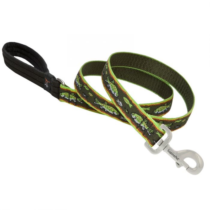 Lupine Pet Original Designs Padded Handle Dog Leash, Brook Trout, 1-in x 6-ft