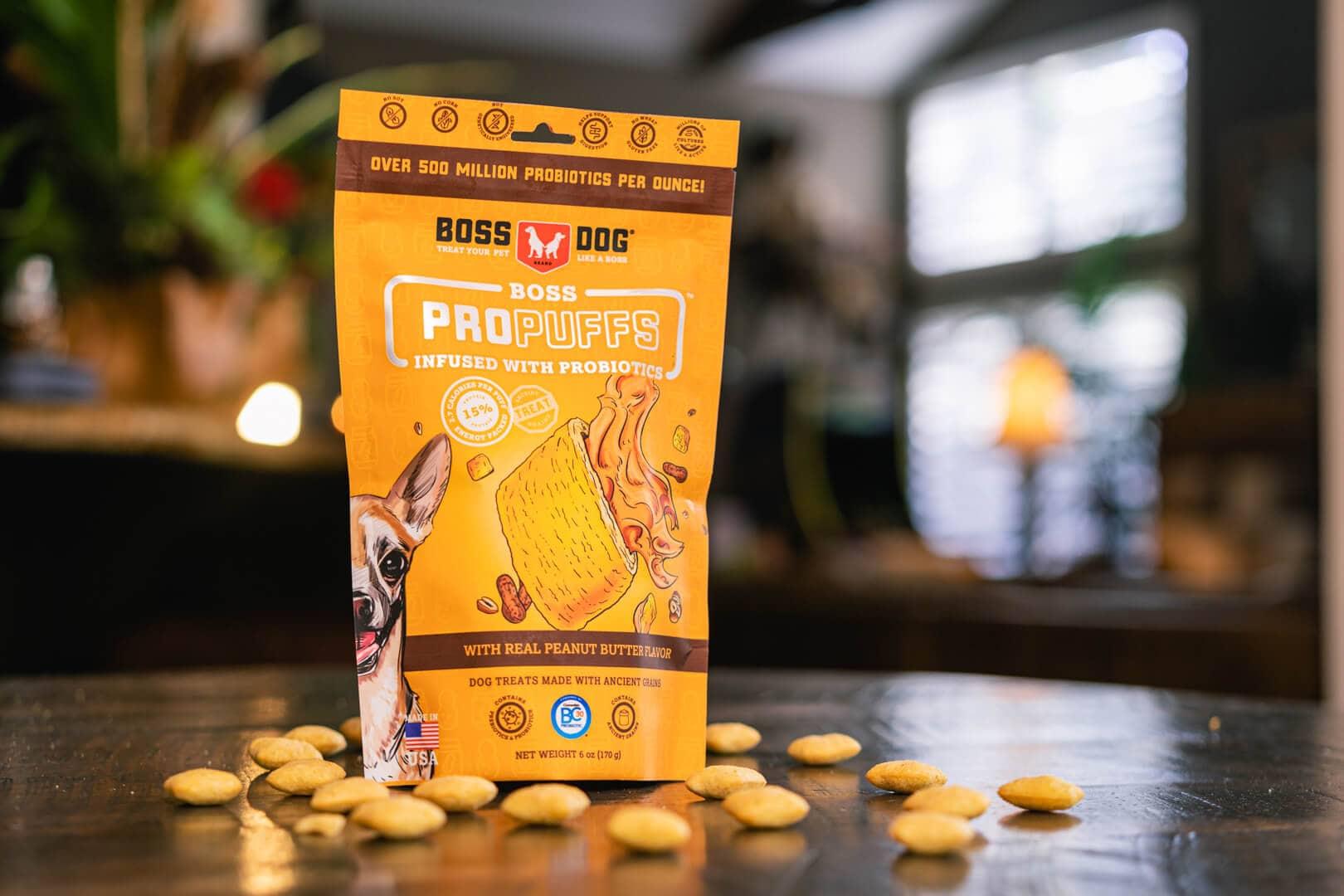 Boss Dog ProPuffs Peanut Butter Flavored Dog Treats, 6-oz