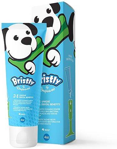 Bristly Pre-Biotic & Enzymatic Beef Flavored Dog Toothpaste, 4-oz